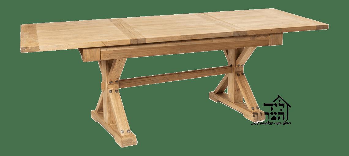 ריהוט כפרי-עץ בוקיצה ממוחזר-שולחן אוכל נפתח - שולחן אבירים -ויטרינה-שולחן אוכל- כיסאות אוכל - קונסולות- שידות- מראות