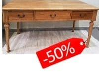 HALF PRICE OAK WOOD WRITING DESK - ליד הצריף, גדרה 08-8598173