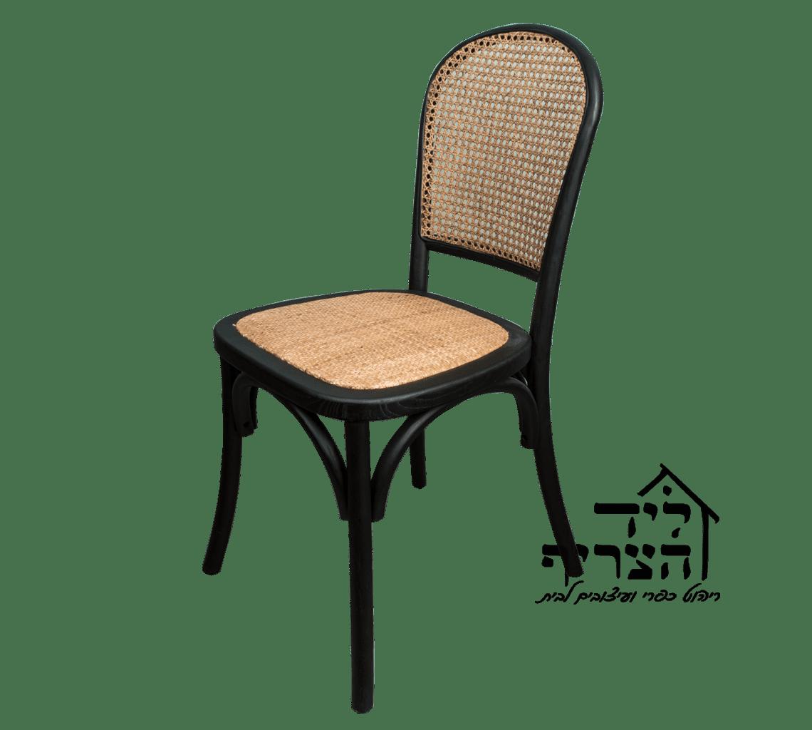 כיסא אוכל מעץ מלא- כיסא גב קלוע - VIENNA BACK CHAIR- כיסא אוכל כפרי ליד הצריף גדרה - יבוא ריהוט כפרי 08-8598173
